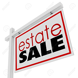 estate sale company sign